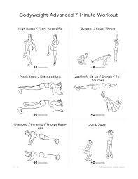 7 Minute Body Weight Workout Tortoisegirls Blog