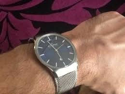 """men s skagen matthies titanium watch 956xlttn watch shop comâ""""¢ bought the watch online very impressed the finishing and quality of the watch looks classy its mini st styling and the mesh strap is"""