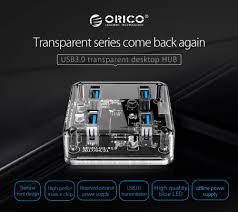 <b>ORICO</b> Transparent USB 3.0 HUB 4 Ports High Speed USB Splitter ...