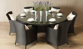 6 seat round glass dining table a gallery dining from popular dining inside 6 seater dining table set
