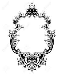 Mirror frame vector Oval Vector Vintage Mirror Frame Vector Baroque Rich Design Elements Decor Royal Style Ornament 123rfcom Vintage Mirror Frame Vector Baroque Rich Design Elements Decor