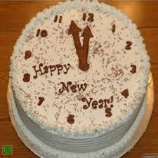 Send New Year Cake With Clock Design Online Free Delivery Gift
