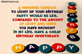A Hundred Candles To Light Up Boyfriend Birthday Message