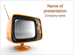 tv powerpoint templates retro tv set powerpoint template backgrounds id 0000003414