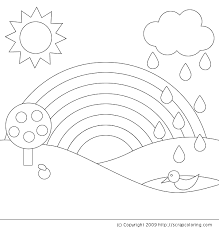 Small Picture Rainbow coloring page