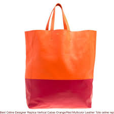 best céline designer replica vertical cabas orange red multicolor leather tote celine replica bucket bag