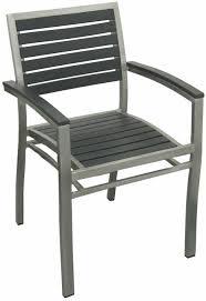 aluminum patio arm chair with black