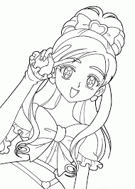 Classy Inspiration Coloring Pages Anime Pretty Cure Characters For