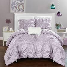 chic home 8 piece benedict lavender bed in a bag duvet set