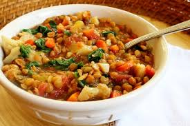 now this lentil soup is insanely good it is more of a stew than a soup it is filling full of veggies fiber and protein and it is low in fat