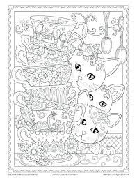 coloring pages kittens teacup kittens coloring book with coloring pages kitten on a stack