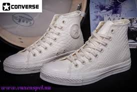white leather converse high tops las
