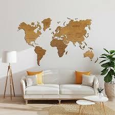world map wall art push pin travel