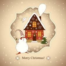 free beautiful christmas cards vector beautiful christmas card christmas house free vector in