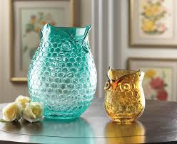 Small Picture Amber Pop Owl Vase Wholesale at Koehler Home Decor