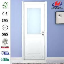 glass panel interior door wood with