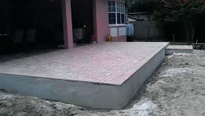 how to install pavers over concrete stylish over concrete patio thin over concrete patio home design