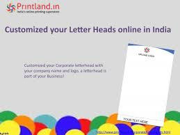 How To Get Customized Corporate Letterhead Online In India