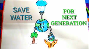 Easy Drawing For Water Conservation For Kids Step By Step