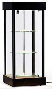spinning glass display cases