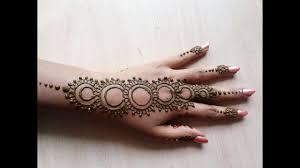 Mehandi Model Design Beautiful Simple Easy Mehandi Designs For Back Hand Circular Model Henna Mehandi Designs