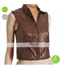 designers women brown leather er vest 163 00