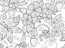 Flower Coloring Pages For Adults Printable Realistic Flower Coloring