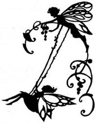 Silhouette Patterns Magnificent Fairy On Swing Silhouette Handmade DIGITAL Counted CrossStitch