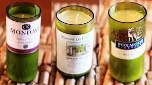 wine bottle crafts for diy decor candles