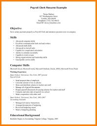 5 Payroll Clerk Resume Authorized Letter