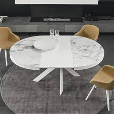 calligaris tivoli round extending dining table ceramic top