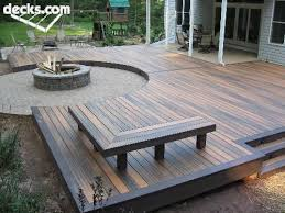 deck patio with fire pit. Beautiful Pit Oh I Like The Multi Color Decking Benches And Fire Pit Neat Idea More With Deck Patio Fire Pit I