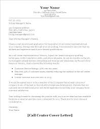 Call Center Cover Letter Example Call Center Cover Letter Sample Templates At