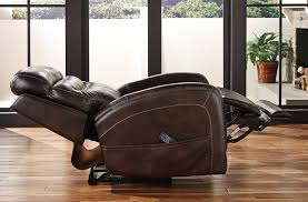 ailor leather power recliner w adjustable headrest brown 7550513