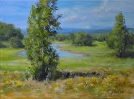karen ilari painting summer pond an acrylic landscape painting tutorial