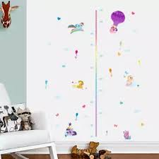 Pony Height Chart Qiushou My Little Pony Wall Sticker Growth Chart Child Height Measurement Decal
