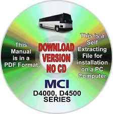 mci bus parts mci bus d4500 series service parts cd manual