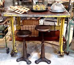 kitchen island cart industrial. Excellent Yellow Metal Industrial Table Cart Kitchen Studio Jennifer Price Solo Cedros With Island N