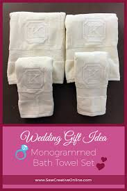wedding gift idea monogrammed bath towel set