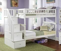Kids Bedroom Furniture White Columbia Staircase Bunk Bed White Bedroom Furniture Beds