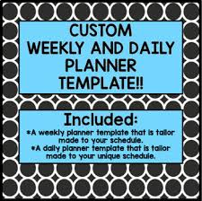 Custom Daily Planner Custom Made Plan Book Template Includes Weekly And Daily Templates