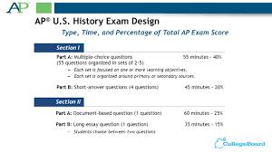 ap acirc reg u s history exam design ppt apacircreg u s history exam design