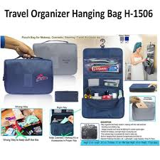 blue grey india travel organizer hanging bag h 1506 capacity 5kg