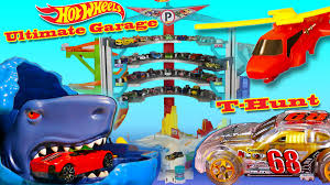 Hot Wheels Ultimate Garage playset, shark, helicopter, storage, ramps by  Mattel - Kid Toys Are Fun - YouTube