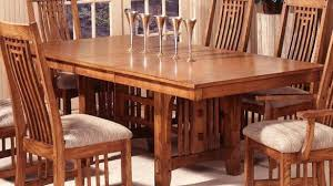 Dining Table Mission Style Oak Dining Table And Chairs Kitchen