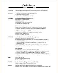 Curriculum Vitae For Students With No Experience Resume College
