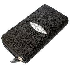 genuine stingray leather wallet st 15 black 1