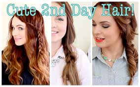 Second Day Curly Hairstyles Cute Without Trying Second Day Hair Youtube