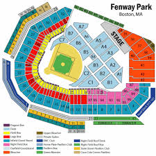 Fenway Park Football Seating Chart Fenway Seating Chart For Concerts