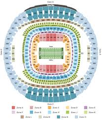 Seating Chart Superdome New Orleans Mercedes Benz Superdome Seating Chart New Orleans
